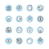 Set crowdfunding strategy business support. Vector illustration Stock Images