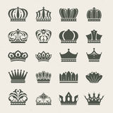 Set of crown icons Royalty Free Stock Images