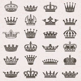 Set of crown icons Royalty Free Stock Image