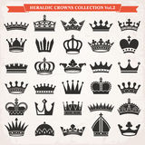 Set of crown icons vector Royalty Free Stock Photo