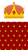 Set Crown and mantle. Royal Crown. Jewelry accessory made of gol Royalty Free Stock Photography