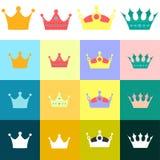 Set of crown Stock Photos