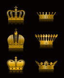 Set of Crowns. Computer illustration, isolated Stock Photography
