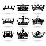 Set of Crowns Royalty Free Stock Image