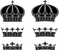Set of crowns. Stencils. vector illustration Royalty Free Stock Photography