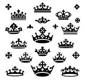Set of crowns. Vector illustration Stock Photo