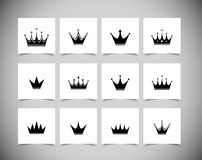 Set of crowns Royalty Free Stock Images