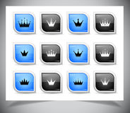 Set of crowns Royalty Free Stock Photos
