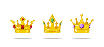 Set of  crowns Stock Image