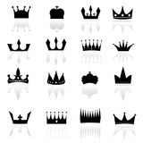 Set of crowns Stock Images