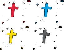 Set of Crucifixes Royalty Free Stock Photo