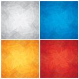Set of Crumpled, Colored Paper Textures. Vector Royalty Free Stock Photo