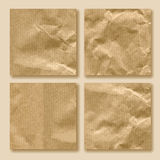 Set of crumpled paper Royalty Free Stock Images