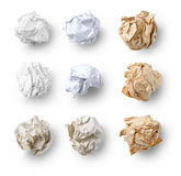 Set of  Crumpled Paper Stock Photography