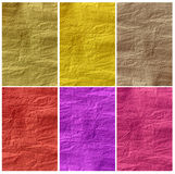 Set of Crumpled paper textures Royalty Free Stock Images