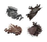 Set of crushed eye shadows. Isolated on white background Stock Images
