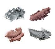 Set of crushed eye shadows. Isolated on white background Royalty Free Stock Image