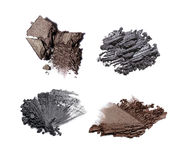 Set of crushed eye shadows Royalty Free Stock Images