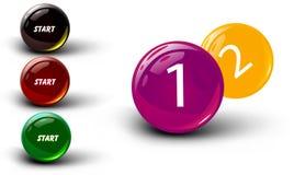 Set of crystal glossy ball vector Royalty Free Stock Photo