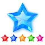 Set of crystal stars Stock Photo