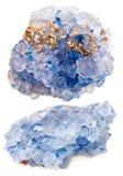 Set of crystals of celestine, celestite Royalty Free Stock Image