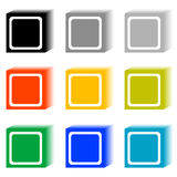 Set of cube buttons Royalty Free Stock Photos