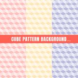 Set of cube pattern pink, purple, yellow color background and texture royalty free illustration