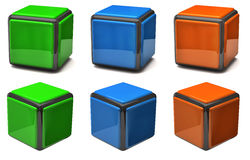 Set of cubes Stock Photography