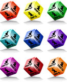 Cube colors info Royalty Free Stock Photography