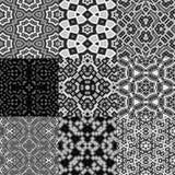 Set of cubes kaleidoscopic seamless generated textures Stock Image