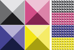 Set of Cubes Pattern Royalty Free Stock Images