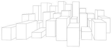 Set of cubes on white Royalty Free Stock Image