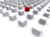 Set of cubes in white and red Royalty Free Stock Images