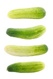 Set of cucumber isolated Stock Image