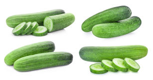 Set of cucumber isolated on white background Royalty Free Stock Images