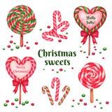 Set cukrowi cukierki dla wakacje Zdjęcia Royalty Free