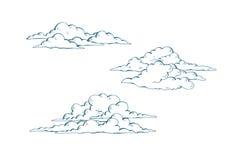 Set cumulus chmury Fotografia Royalty Free