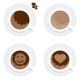 Set cup of coffe Stock Images