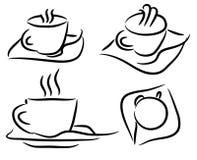 Set cup of coffee vector Stock Photos