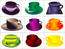 Set a cup of drink Stock Images