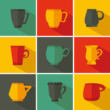 Set cup Royalty Free Stock Image