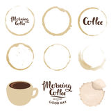 Set of cup stains. Morning coffee Royalty Free Stock Image