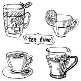 Set cup of tea Royalty Free Stock Images