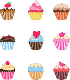Set of cupcake Royalty Free Stock Images