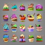 Set of cupcake. Stock Photos