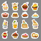 Set cupcake vector Royalty Free Stock Photography