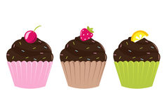 Set Cupcakes Stock Photo