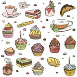 Set of cupcakes Stock Image