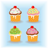Set of cupcakes Royalty Free Stock Images