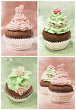 Set of cupcakes Stock Photos